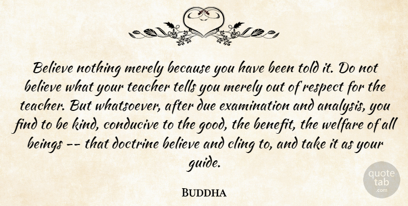 Buddha Believe Nothing Merely Because You Have Been Told It Do Not