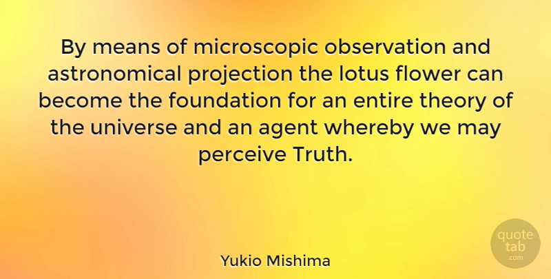 Yukio mishima by means of microscopic observation and astronomical yukio mishima quote about flower mean lotuses by means of microscopic observation mightylinksfo