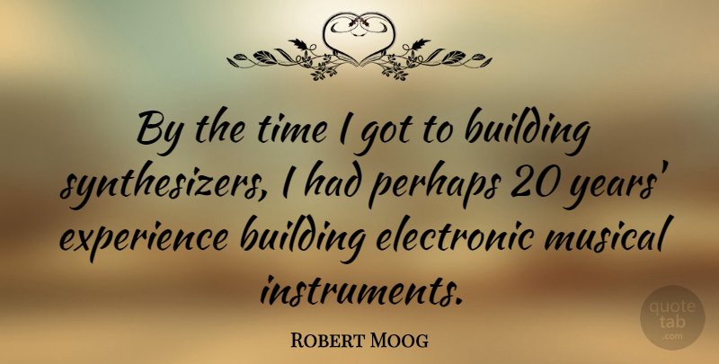 Robert Moog Quote About Electronic, Experience, Musical, Perhaps, Time: By The Time I Got...
