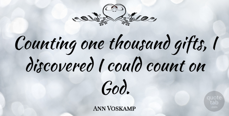 Ann Voskamp: Counting one thousand
