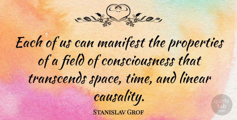 stanislav grof each of us can manifest the properties of a field