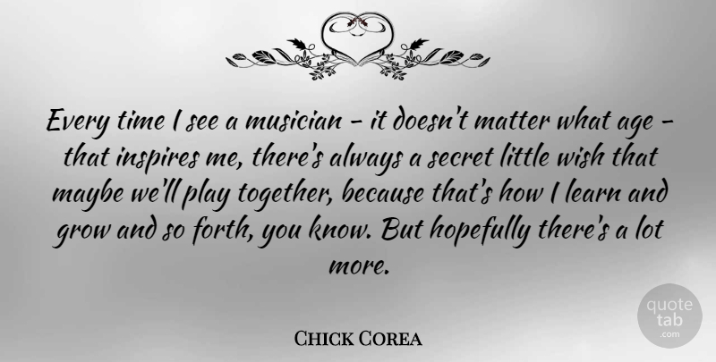 Chick Corea Every Time I See A Musician It Doesnt Matter What