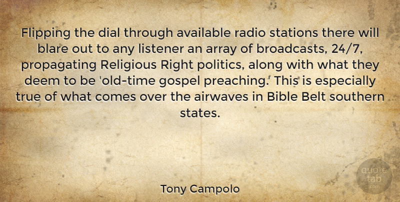 Tony Campolo: Flipping the dial through available radio stations