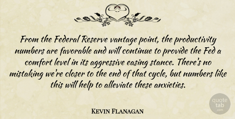Kevin Flanagan Quote About Aggressive, Closer, Comfort, Continue, Easing: From The Federal Reserve Vantage...