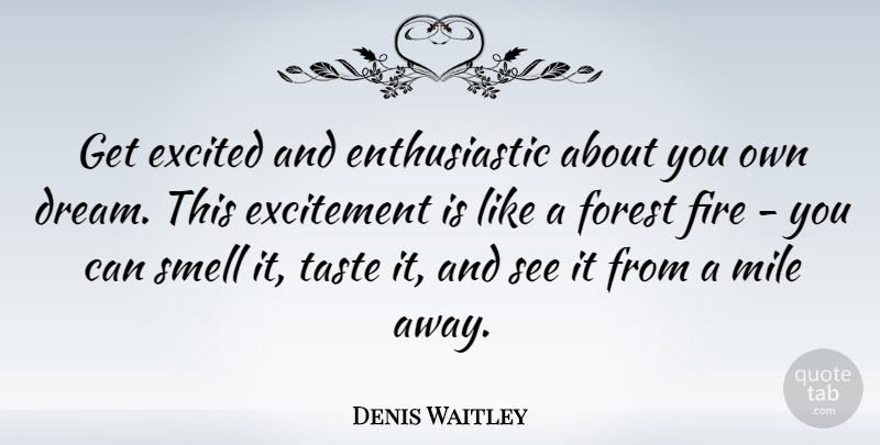Denis Waitley Get Excited And Enthusiastic About You Own Dream