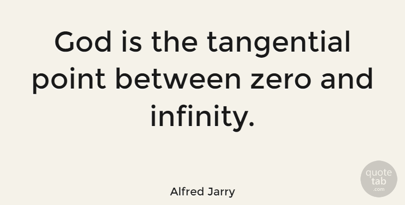 Alfred Jarry Quote About God, Zero, Infinity: God Is The Tangential Point...