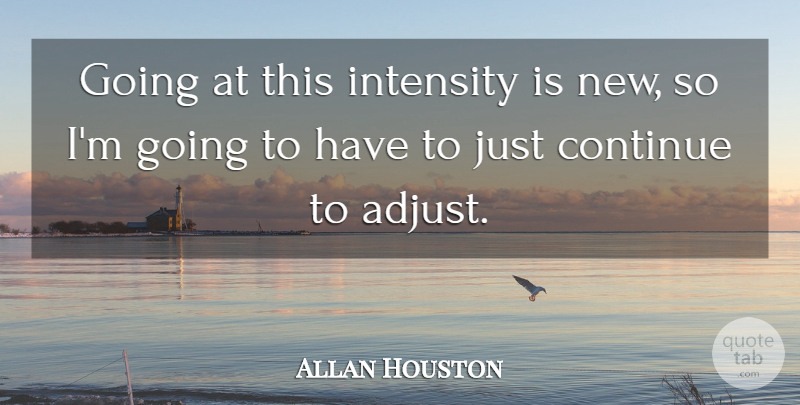 Allan Houston Quote About Continue, Intensity: Going At This Intensity Is...