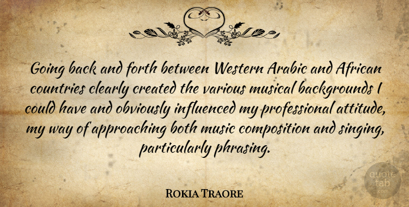 Rokia Traore: Going Back And Forth Between Western Arabic