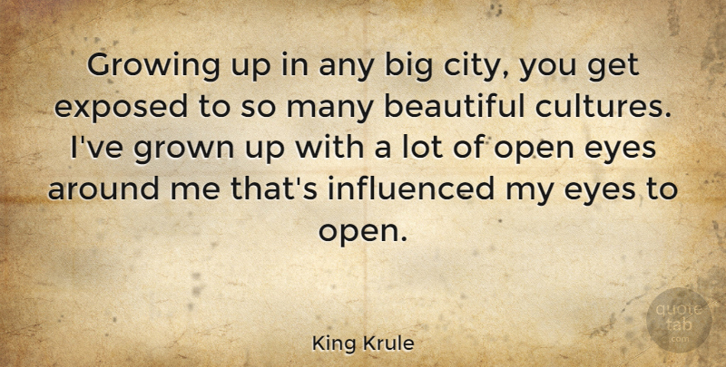 King Krule Quote About Exposed, Growing, Grown, Influenced, Open: Growing Up In Any Big...