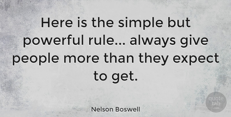 Nelson Boswell Quote About American Author, People: Here Is The Simple But...
