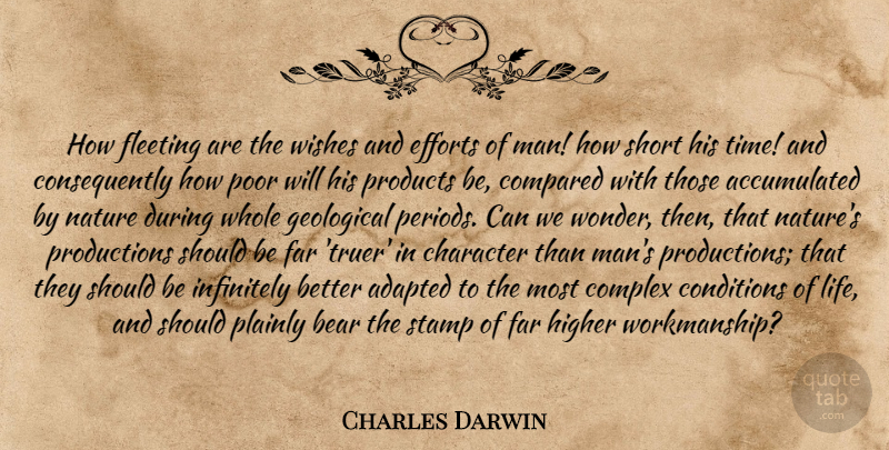 Charles Darwin How Fleeting Are The Wishes And Efforts Of Man How