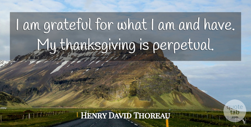 Henry David Thoreau I Am Grateful For What I Am And Have My