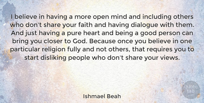 Ishmael Beah I Believe In Having A More Open Mind And Including