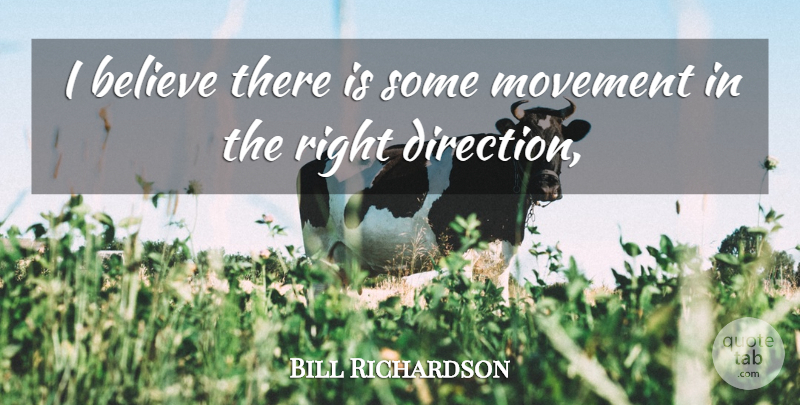 Bill Richardson Quote About Believe, Movement: I Believe There Is Some...