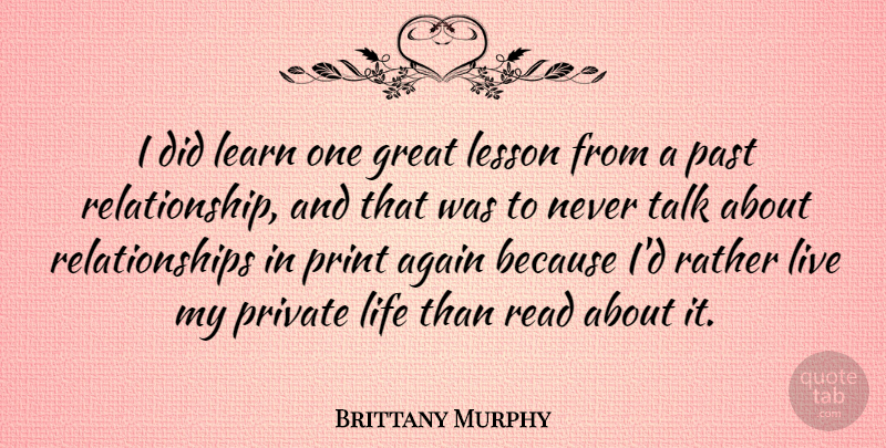 Brittany Murphy: I did learn one great lesson from a past ...