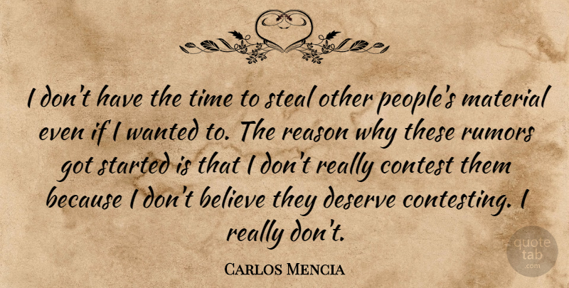 Carlos Mencia I Dont Have The Time To Steal Other Peoples