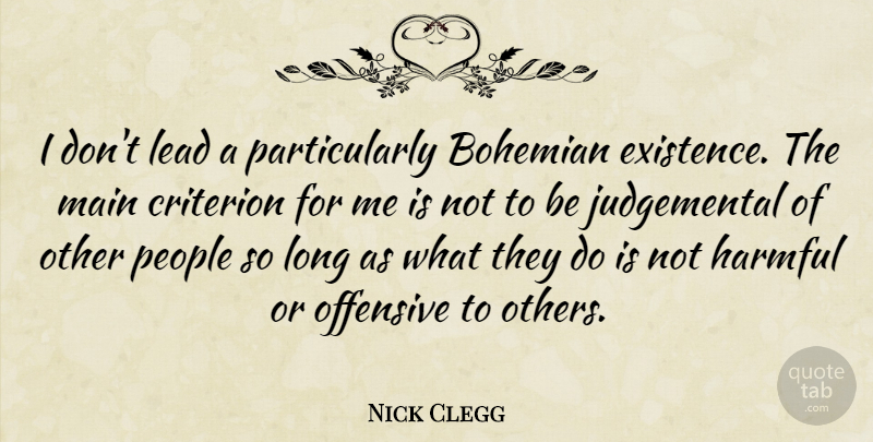 Nick Clegg I Dont Lead A Particularly Bohemian Existence The Main