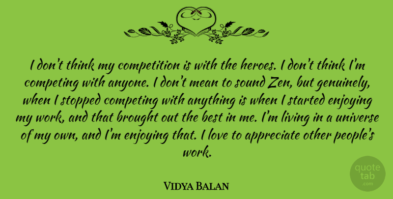 Vidya Balan I Dont Think My Competition Is With The Heroes I Don
