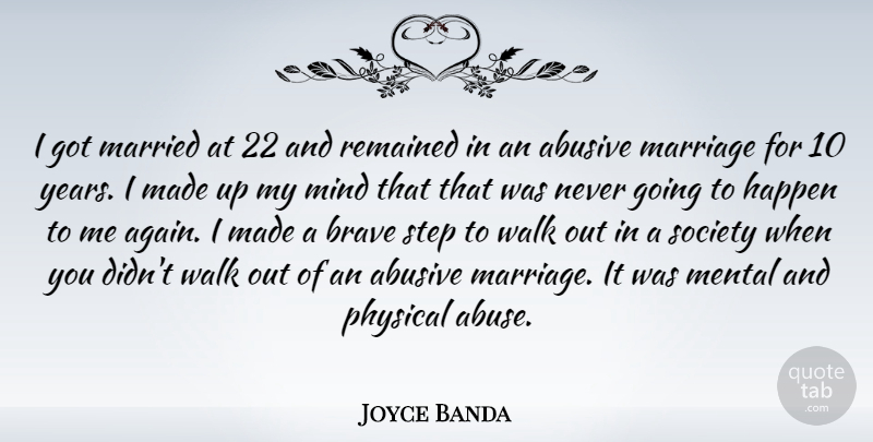Joyce Banda: I got married at 22 and remained in an abusive ...