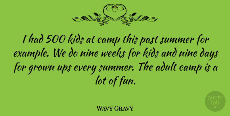 Wavy Gravy Quote About Summer, Fun, Kids: I Had 500 Kids At...
