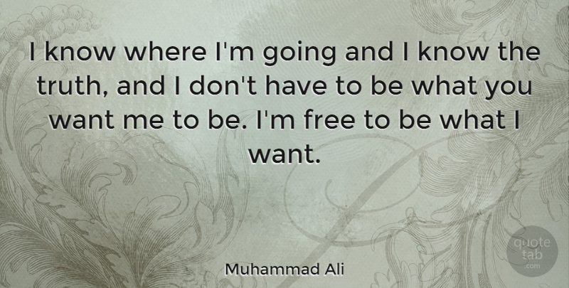 Muhammad Ali I Know Where Im Going And I Know The Truth And I Don