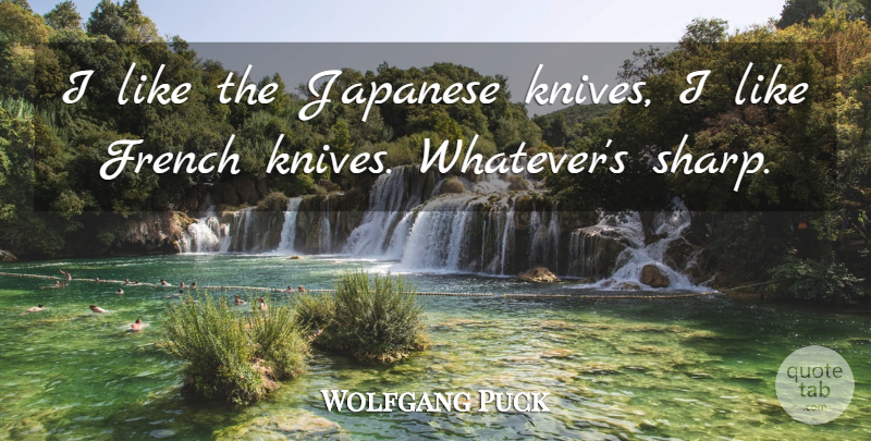 Wolfgang Puck Quote About Knives: I Like The Japanese Knives...