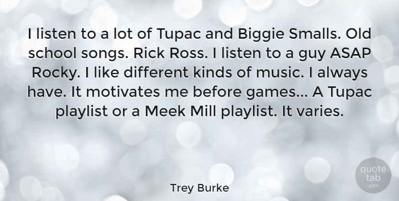 Trey Burke: I listen to a lot of Tupac and Biggie Smalls ...