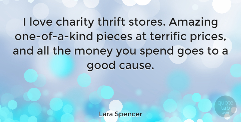 Lara Spencer I Love Charity Thrift Stores Amazing One Of A Kind