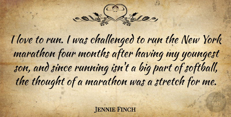 Jennie Finch I Love To Run I Was Challenged To Run The New York