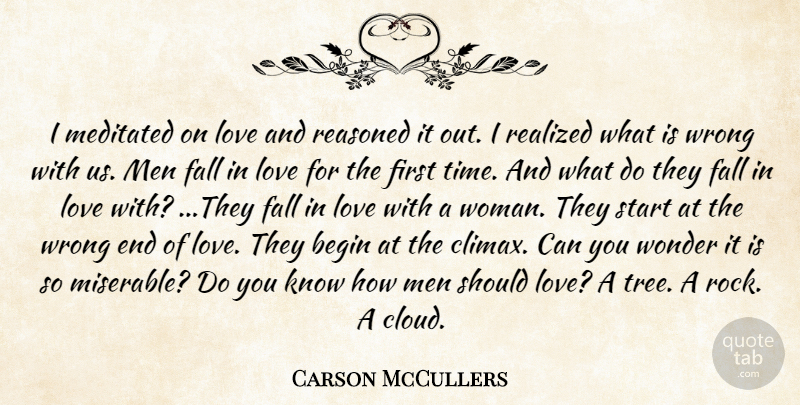 Carson McCullers: I meditated on love and reasoned it out  I