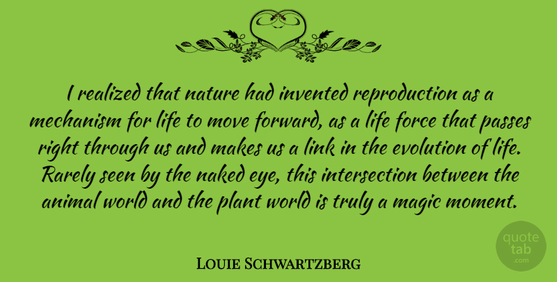 Louie Schwartzberg I Realized That Nature Had Invented Reproduction