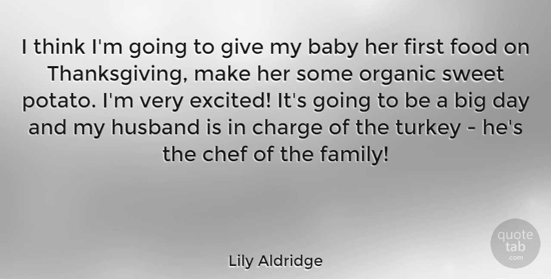 lily aldridge i think i m going to give my baby her first food on