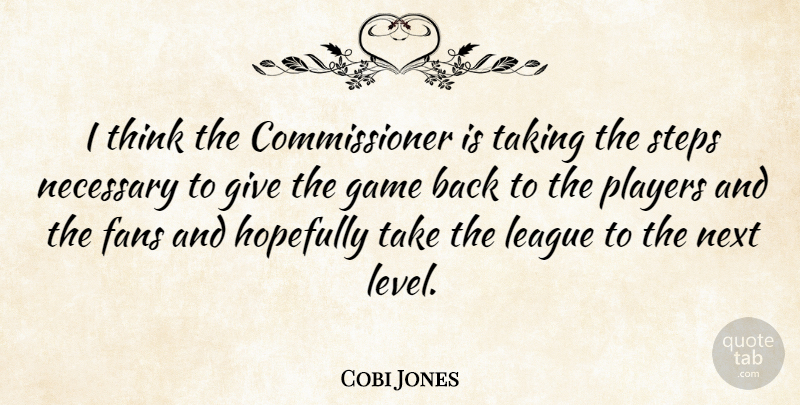 Cobi Jones I Think The Commissioner Is Taking The Steps Necessary