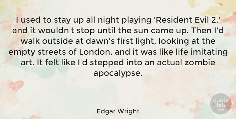 Edgar Wright I Used To Stay Up All Night Playing Resident Evil 2