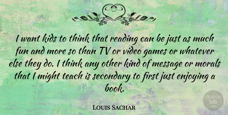 Louis Sachar: I Want Kids To Think That Reading Can Be