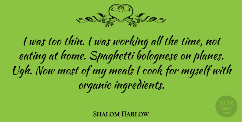 Shalom Harlow Quote About Home, Meals, Ugh: I Was Too Thin I...