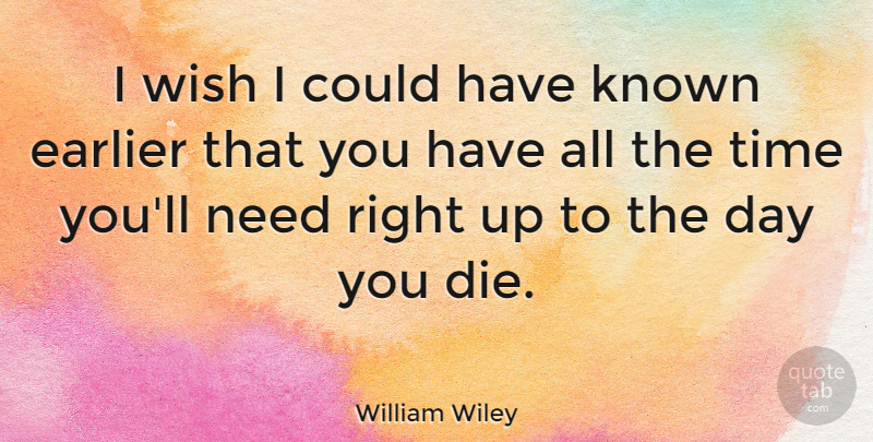 William Wiley Quote About American Soldier, Earlier, Known, Time: I Wish I Could Have...