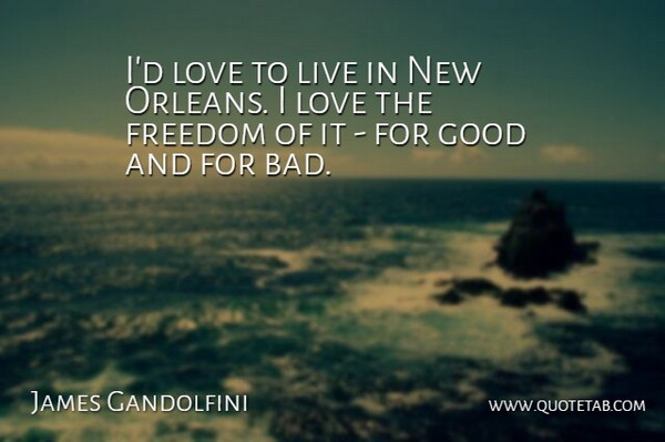 James Gandolfini: I\'d love to live in New Orleans. I love ...
