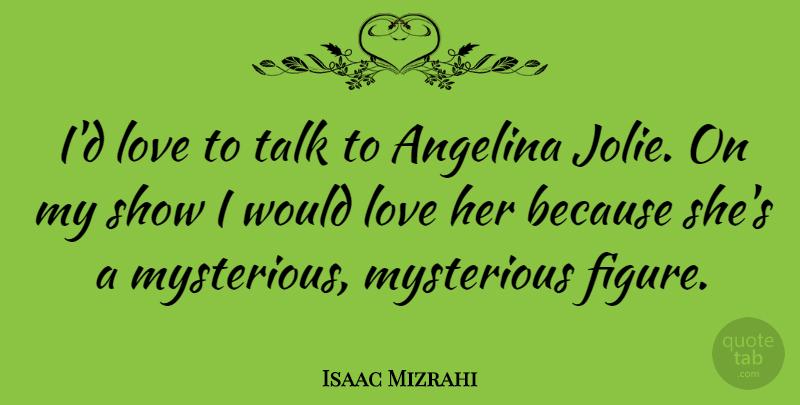 Isaac Mizrahi Id Love To Talk To Angelina Jolie On My Show I