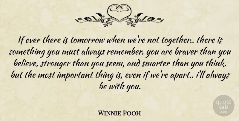 Winnie Pooh If Ever There Is Tomorrow When Were Not Together