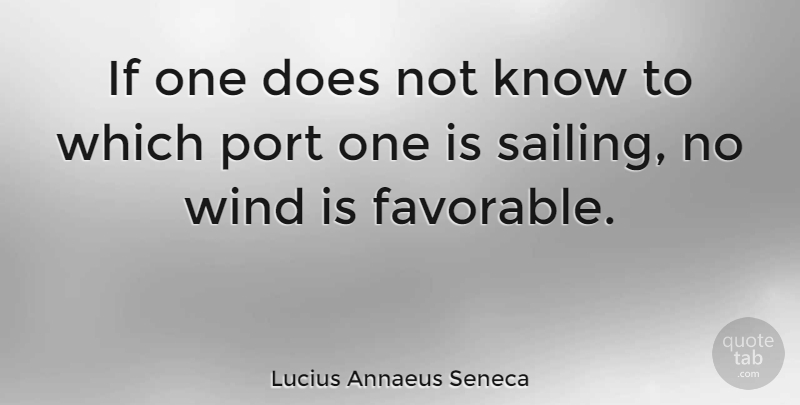 Lucius Annaeus Seneca Quote About Business, Port, Wind: If One Does Not Know...