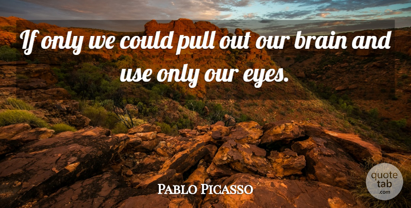 Pablo Picasso Quote About Art, Creativity, Eye: If Only We Could Pull...