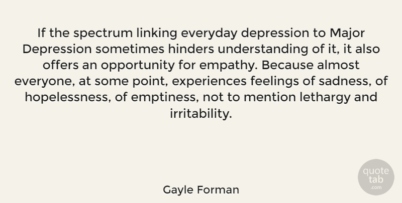 gayle forman if the spectrum linking everyday depression to major