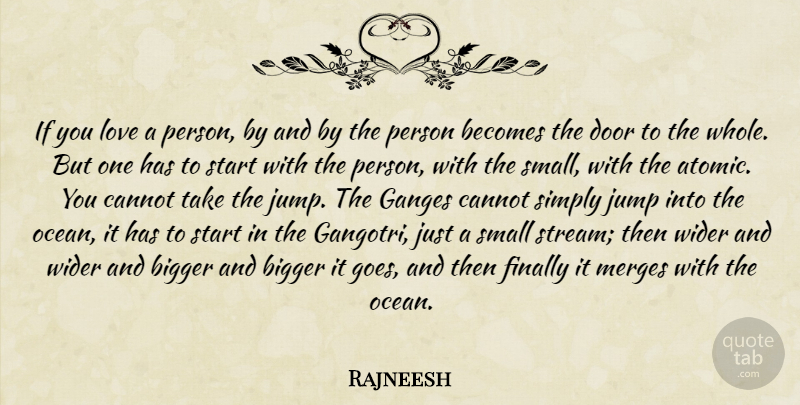 Rajneesh Quote About Love, Ocean, Doors: If You Love A Person...