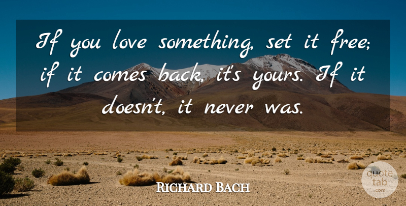 Richard Bach If You Love Something Set It Free If It Comes Back