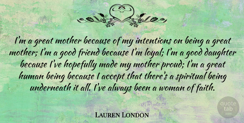 Lauren London Im A Great Mother Because Of My Intentions On Being