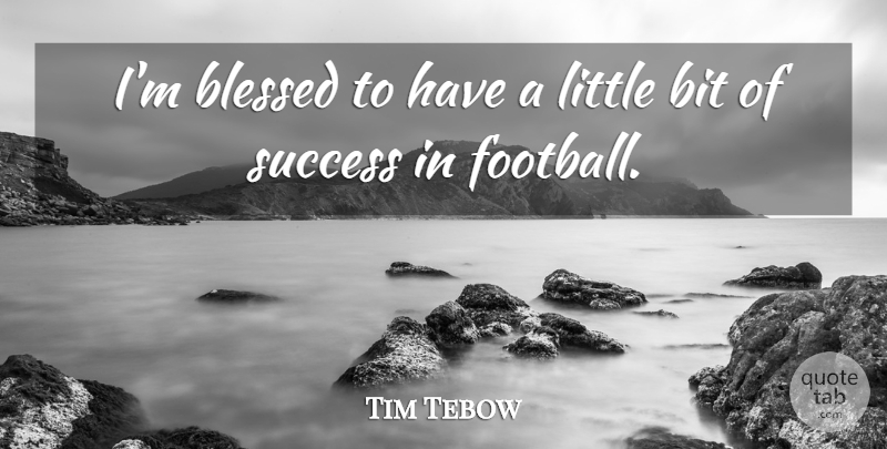 Tim Tebow Im Blessed To Have A Little Bit Of Success In Football