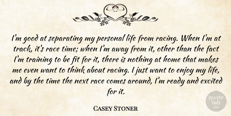 Casey Stoner Im Good At Separating My Personal Life From Racing