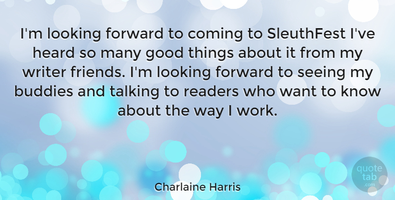 Charlaine Harris Im Looking Forward To Coming To Sleuthfest Ive