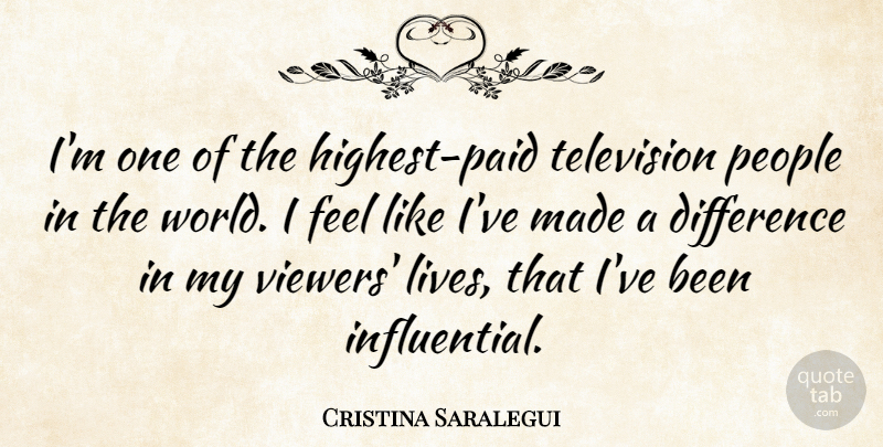 Cristina Saralegui Quote About Differences, People, Television: Im One Of The Highest...